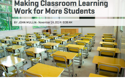 Making Classroom Learning Work for More Students